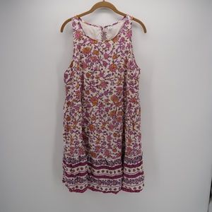 Old Navy Floral Sleeveless Mini Dress Size Large